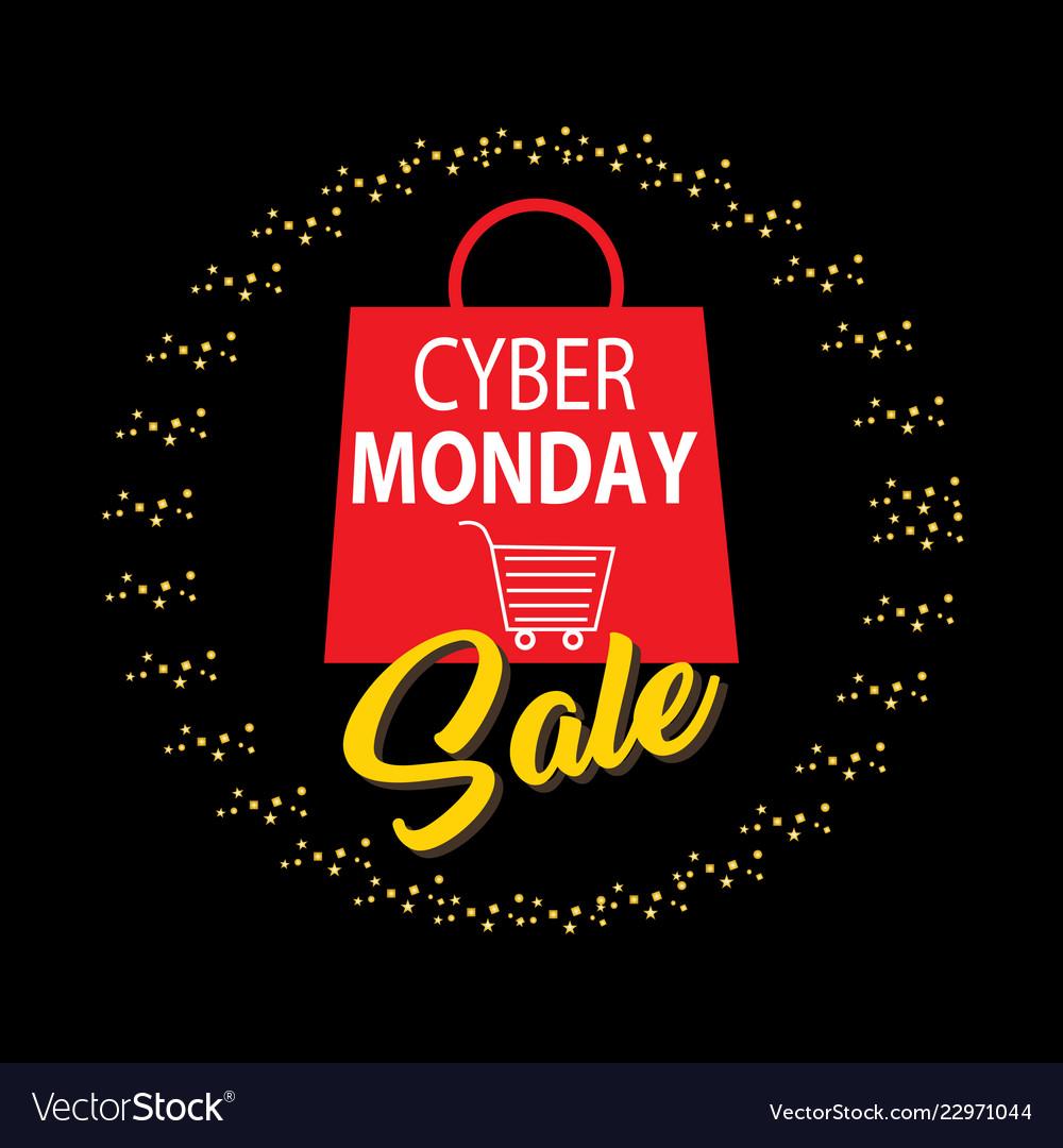 Cyber monday discount sale concept transparent b