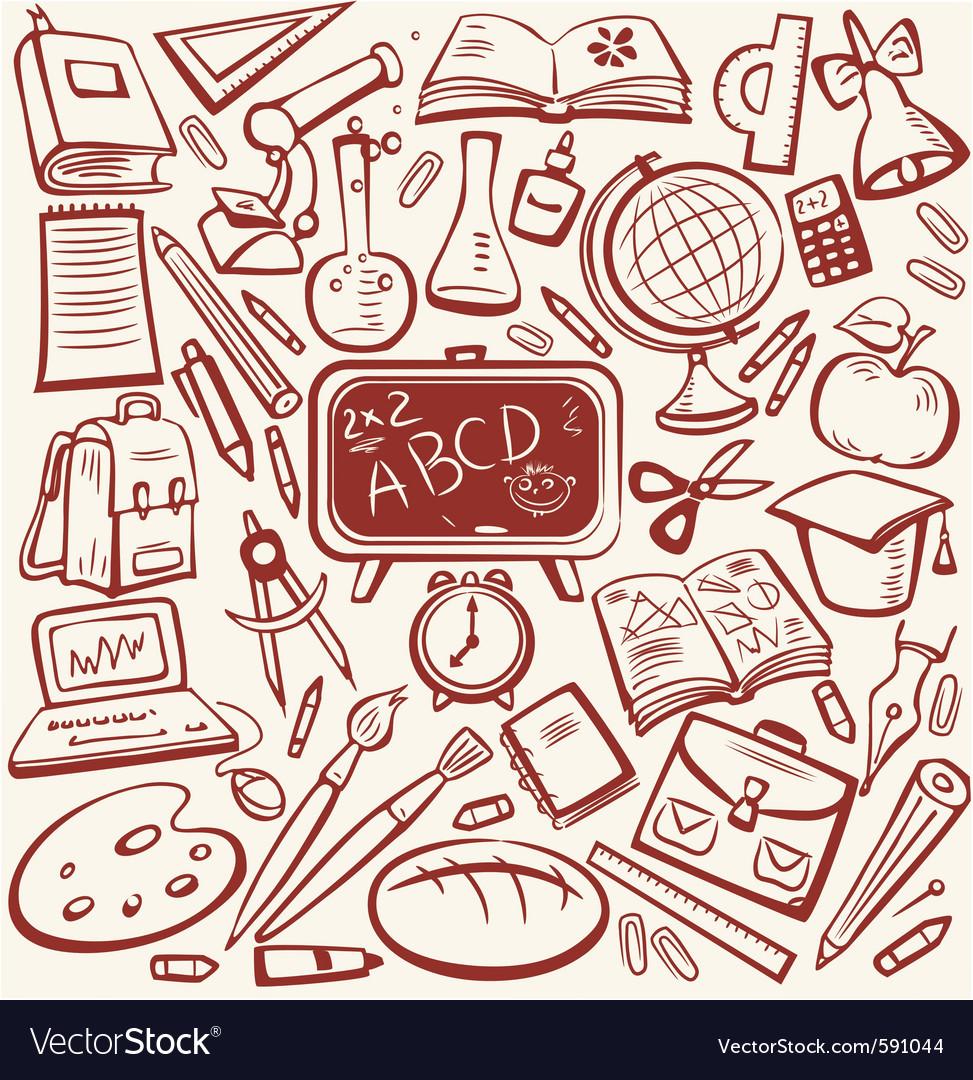Education sketch vector image