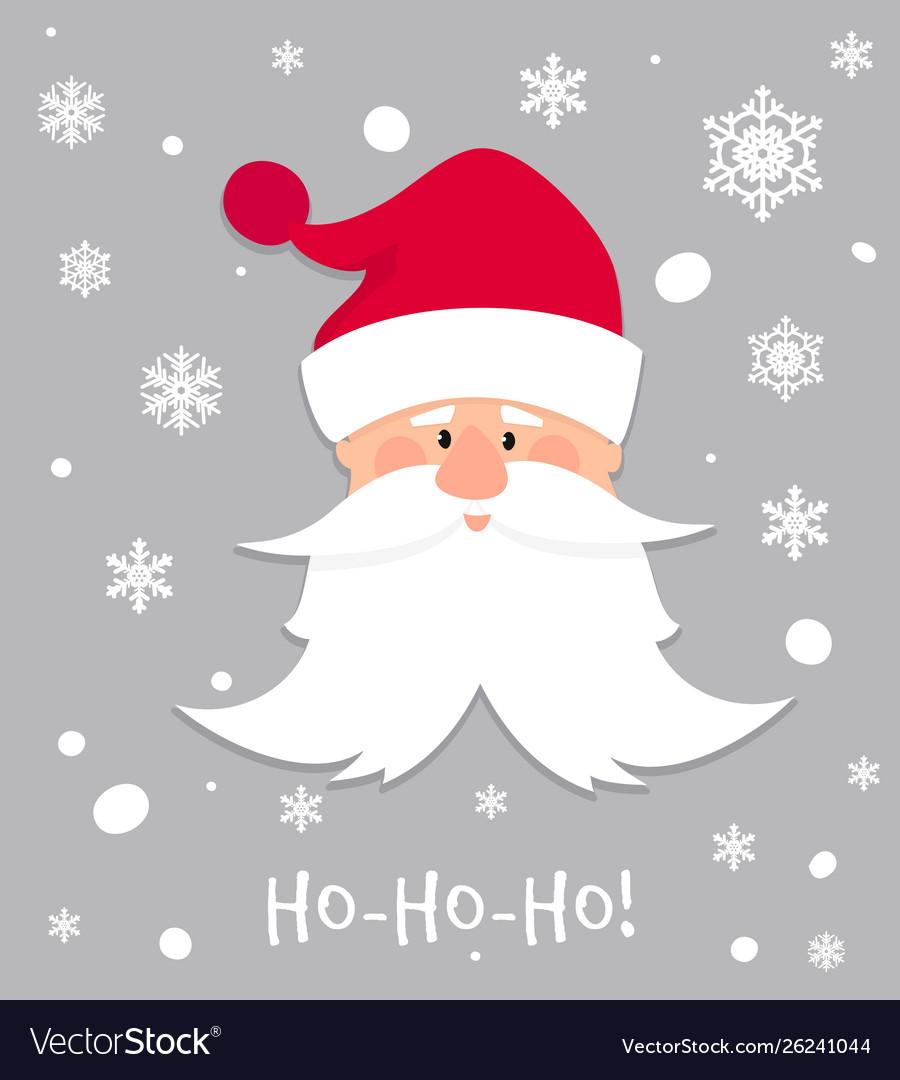 Ho-ho-ho christmas banner cartoon santa claus