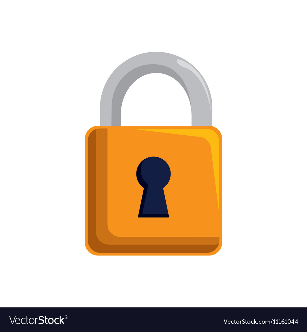 Padlock lock security mobile design vector image