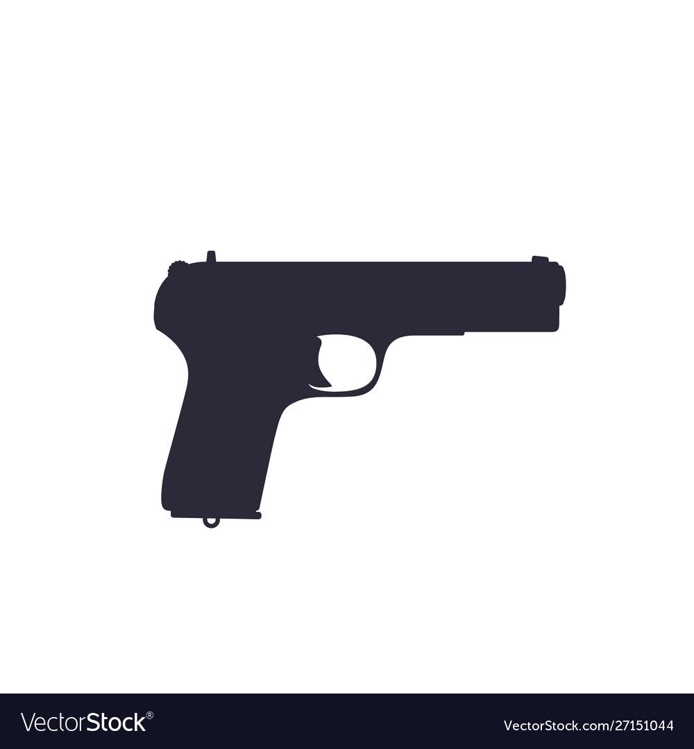 pistol old soviet world war 2 handgun silhouette vector image vectorstock