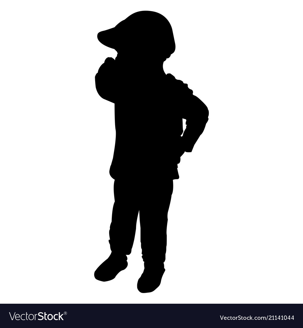 Silhouette of baby sitting