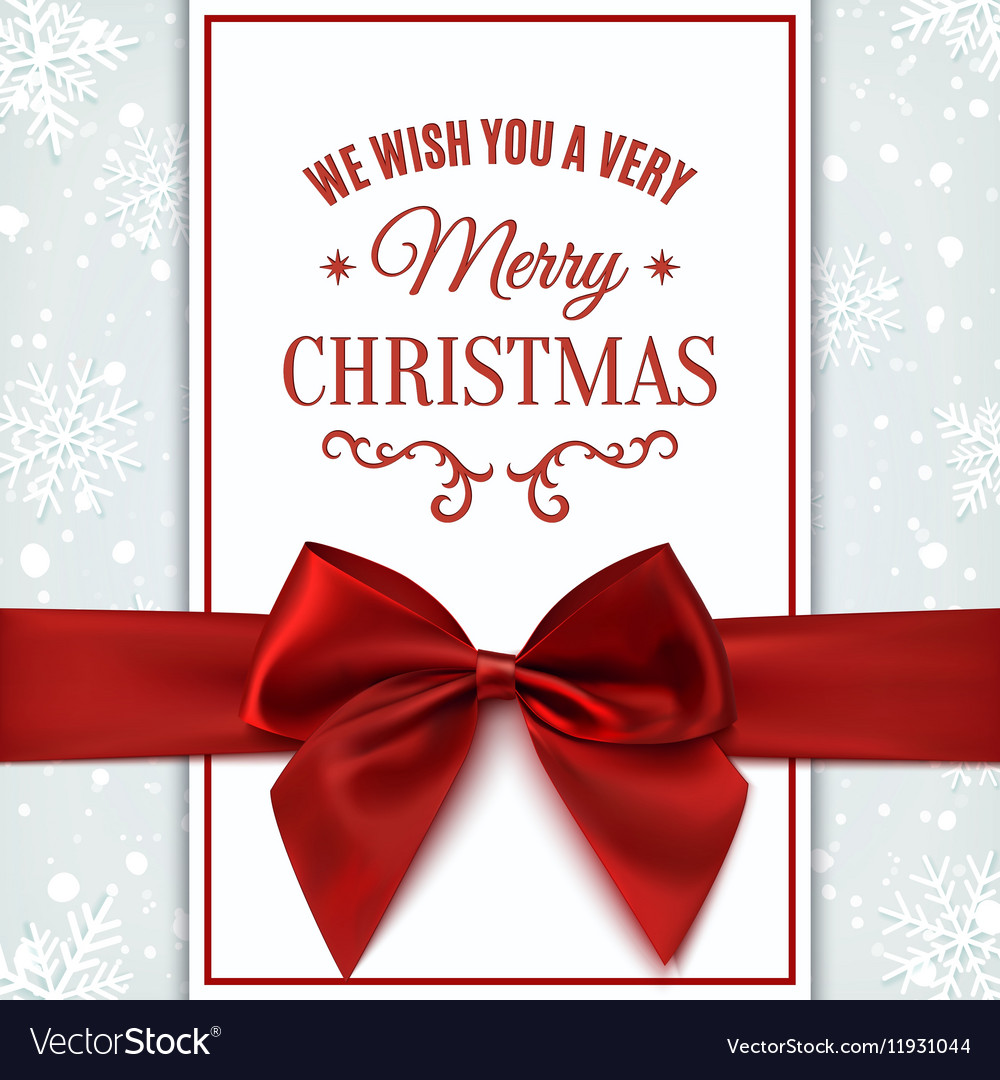 we wish you merry christmas greeting card vector image - We Wish You Merry Christmas