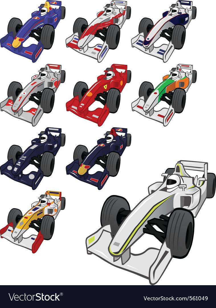 Cartoon Formula One Royalty Free Vector Image Vectorstock