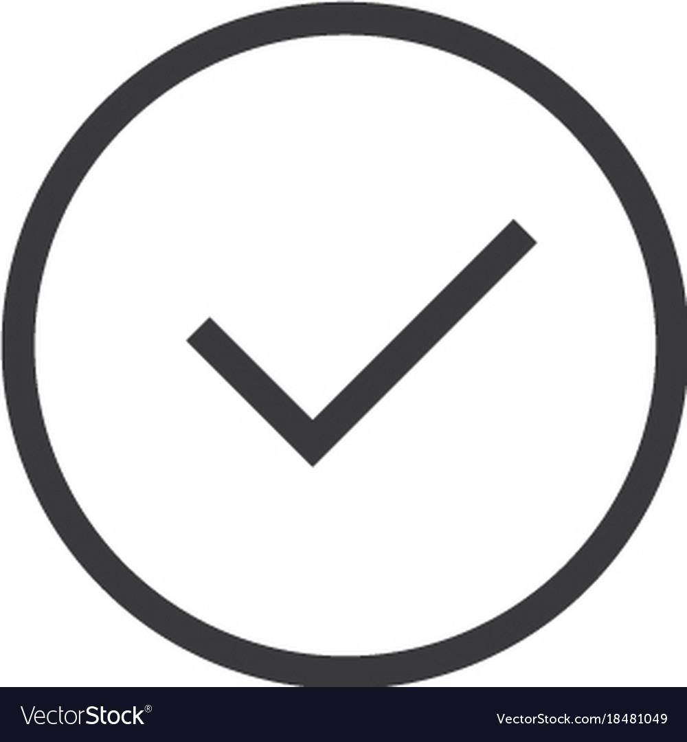 Check mark icon line style