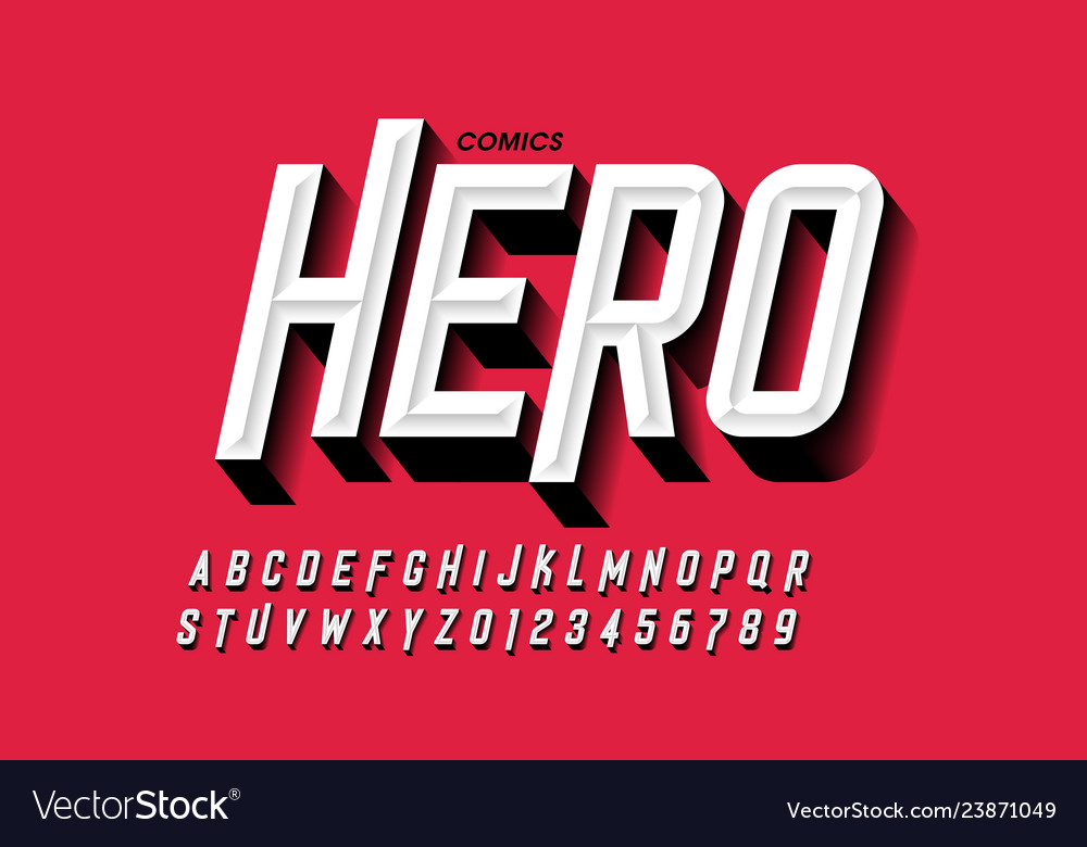 Comics hero style font