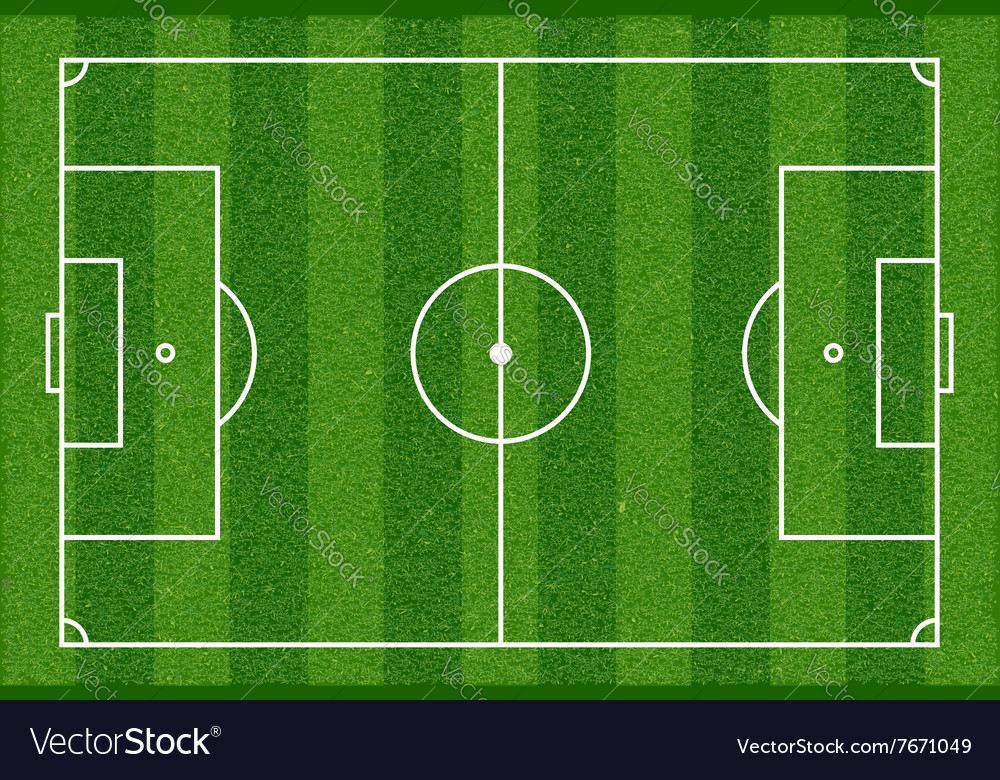 Football Field Top View Royalty Free Vector Image