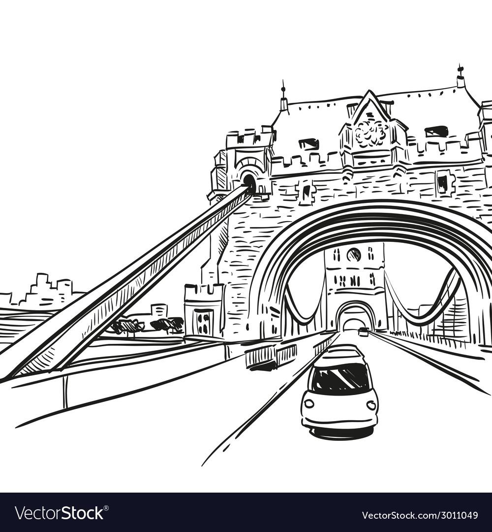 London bridge drawing