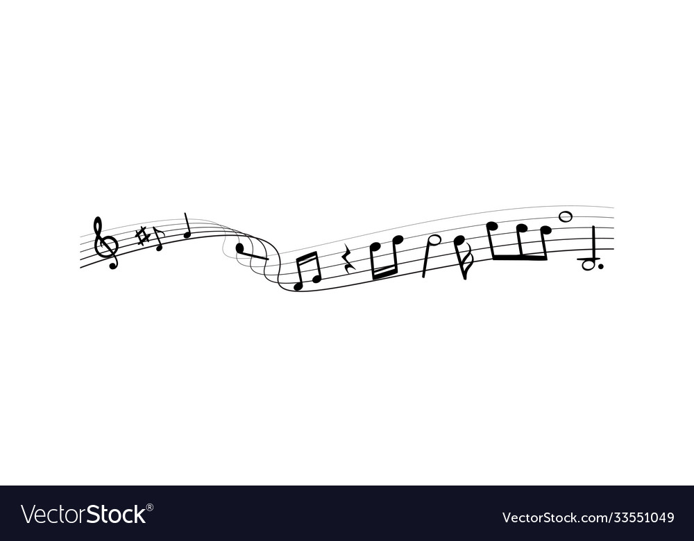 Music notes silhouettes monochrome abstract