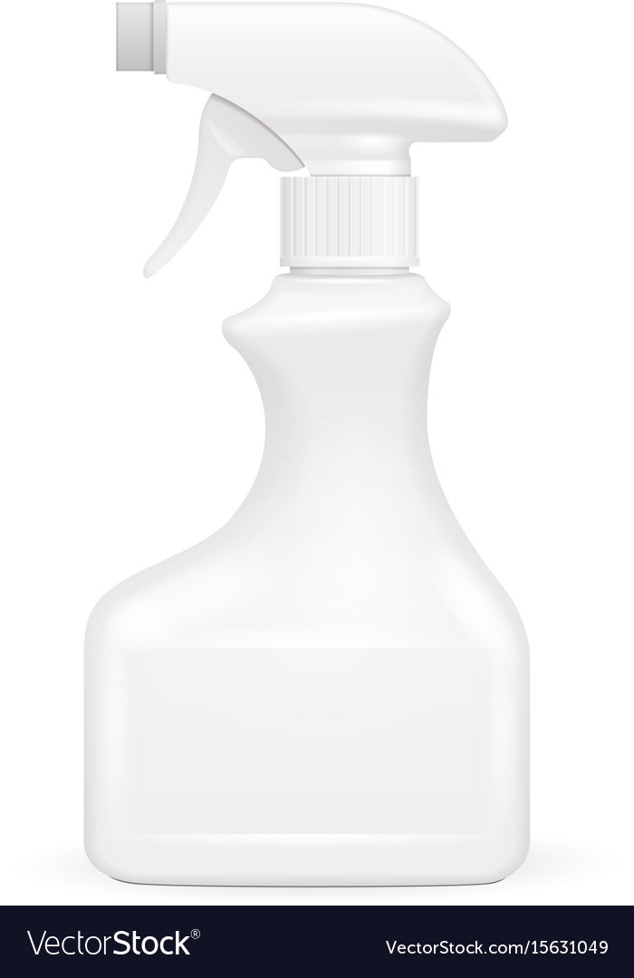White blank spray pistol cleaner plastic bottle
