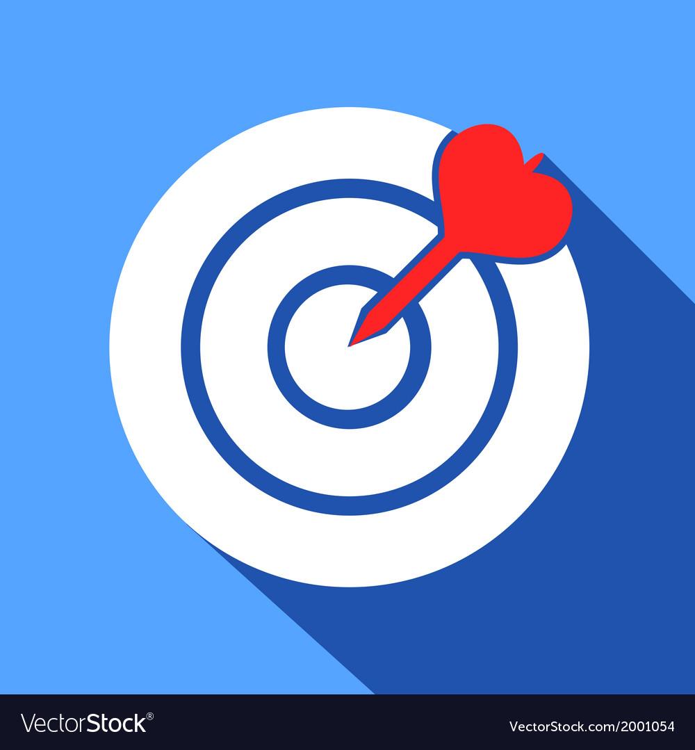 Dart in the dartboard center icon
