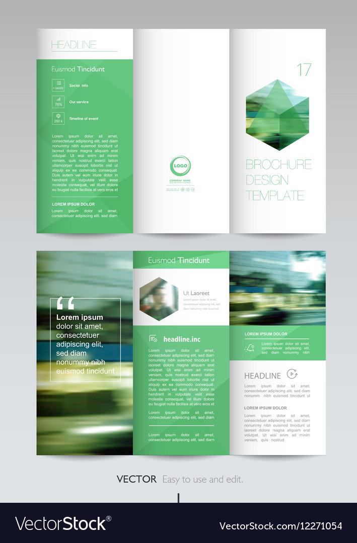 Geometric trifold business brochure template vector image friedricerecipe Gallery