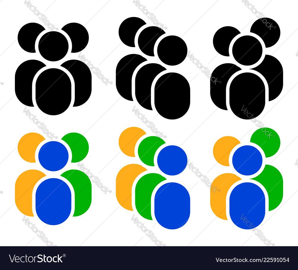 Set of character figure symbols icon - three