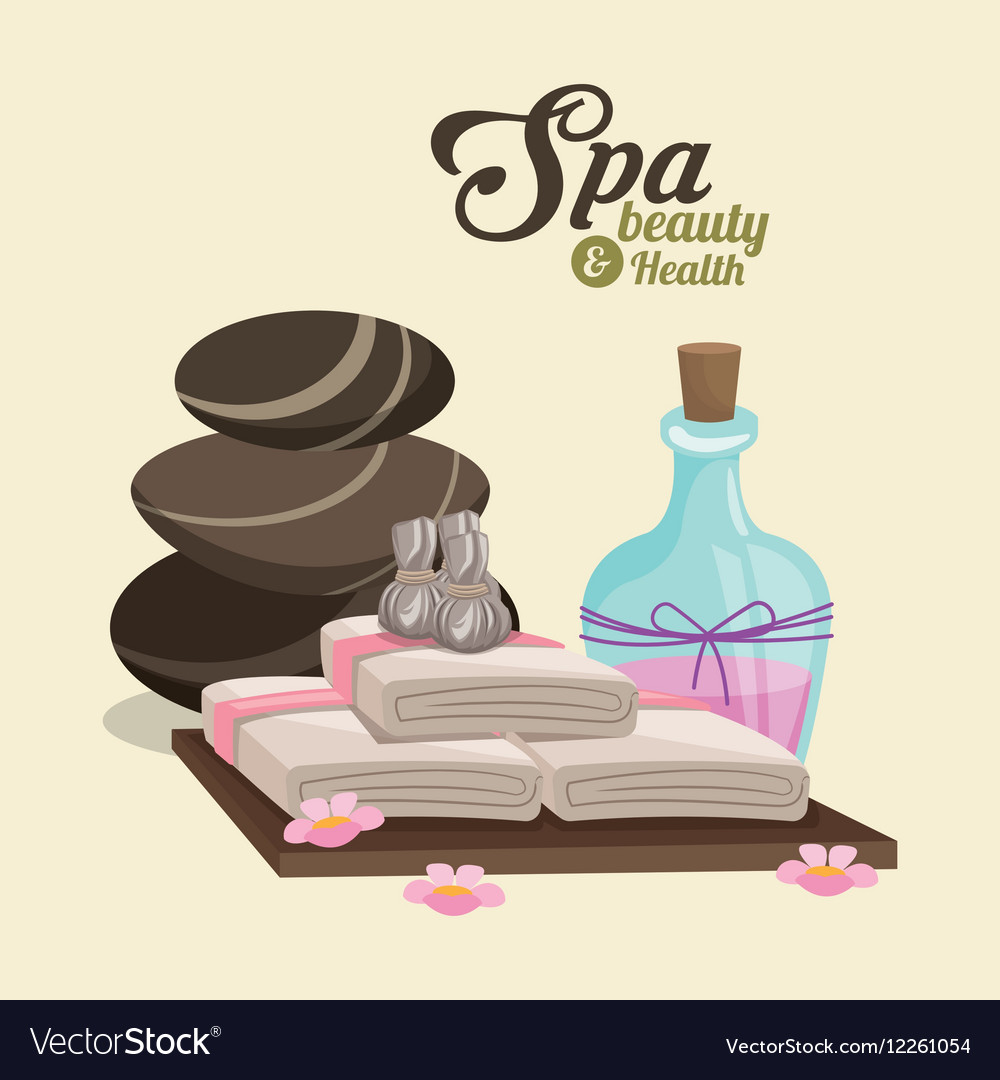 Spa beauty and health hot stone compress lotion