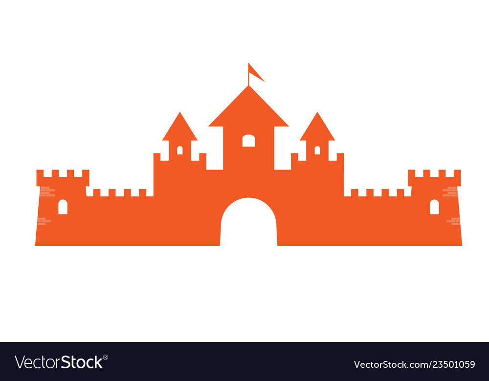 Authentic castle tower symbol for logo or icon