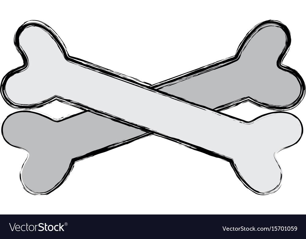 Bones in cross danger symbol to caution alert