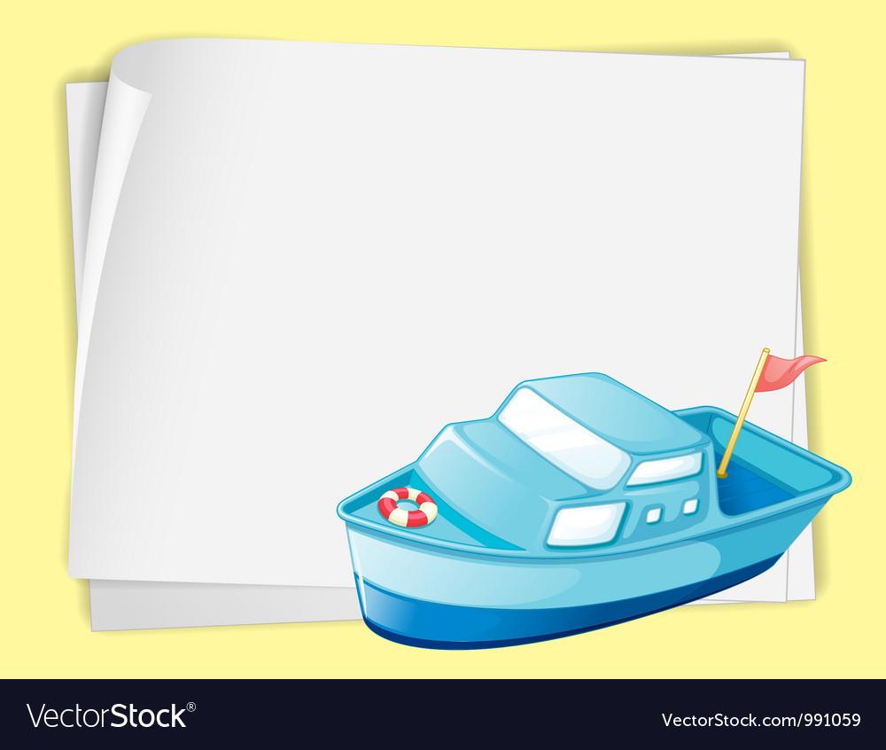 Cartoon Paper Space Boat