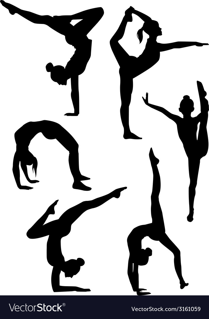 Gymnastics and ballet silhouettes