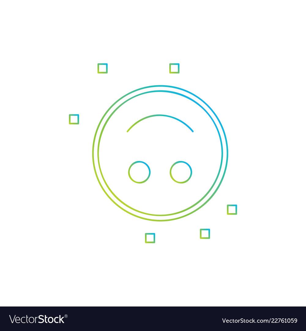 Inverted smile emoji icon