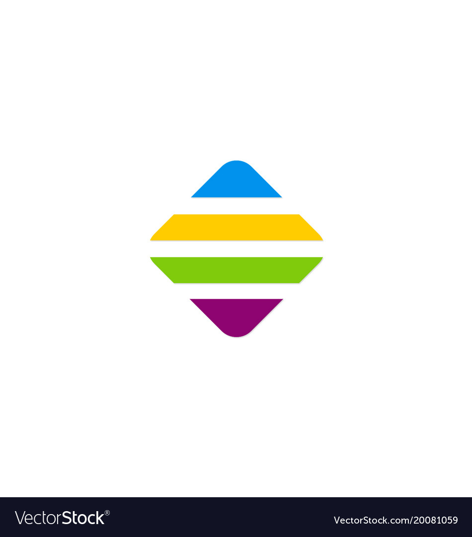 Line square colorful technology logo