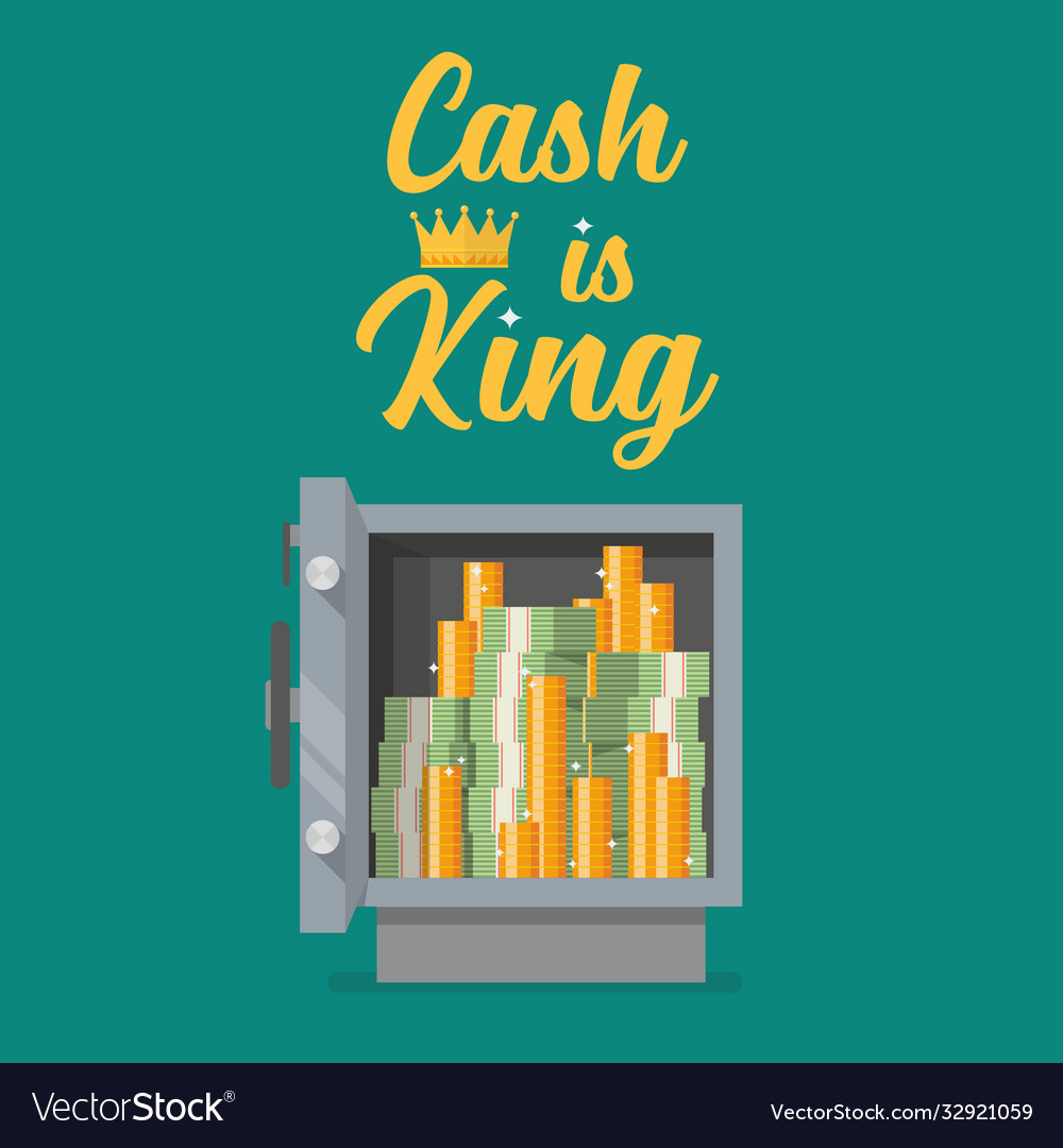 Safe full money with text cash is king