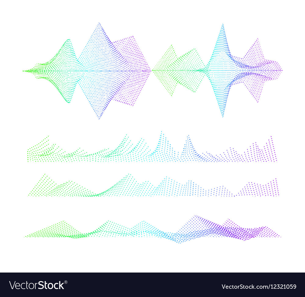 Sound equalizer colorful musical concept Audio vector image