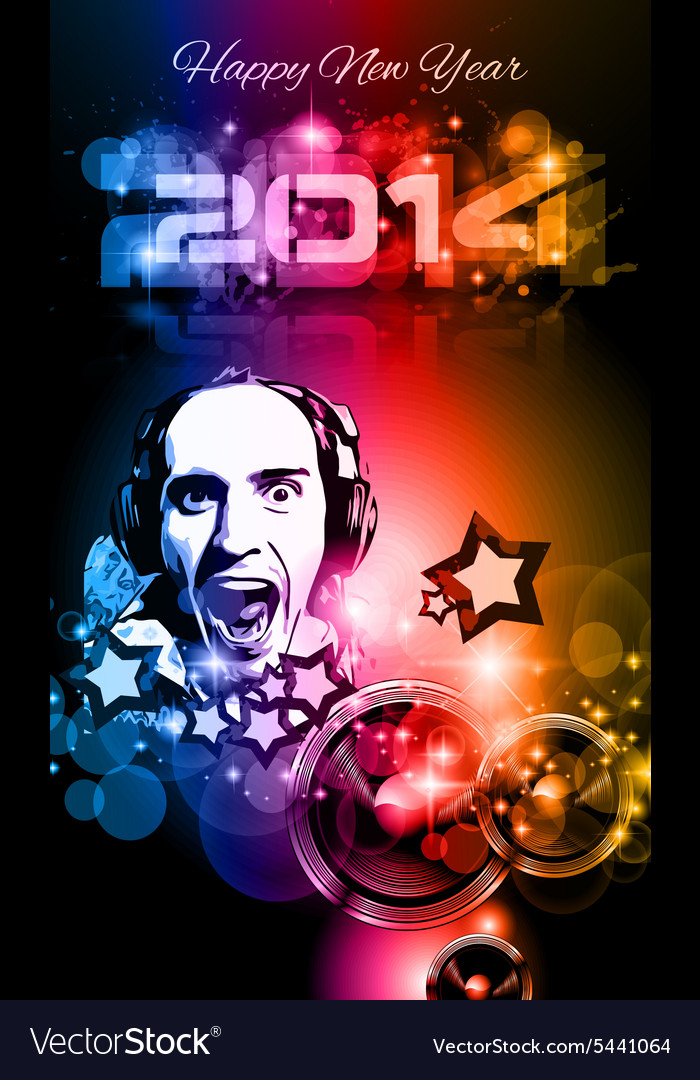 2014 New Years Party background for Club Flyers