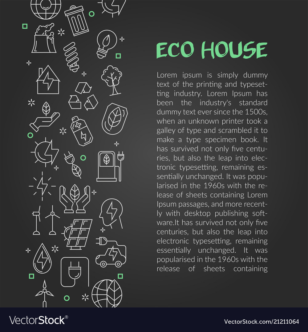 Design of article about eco house