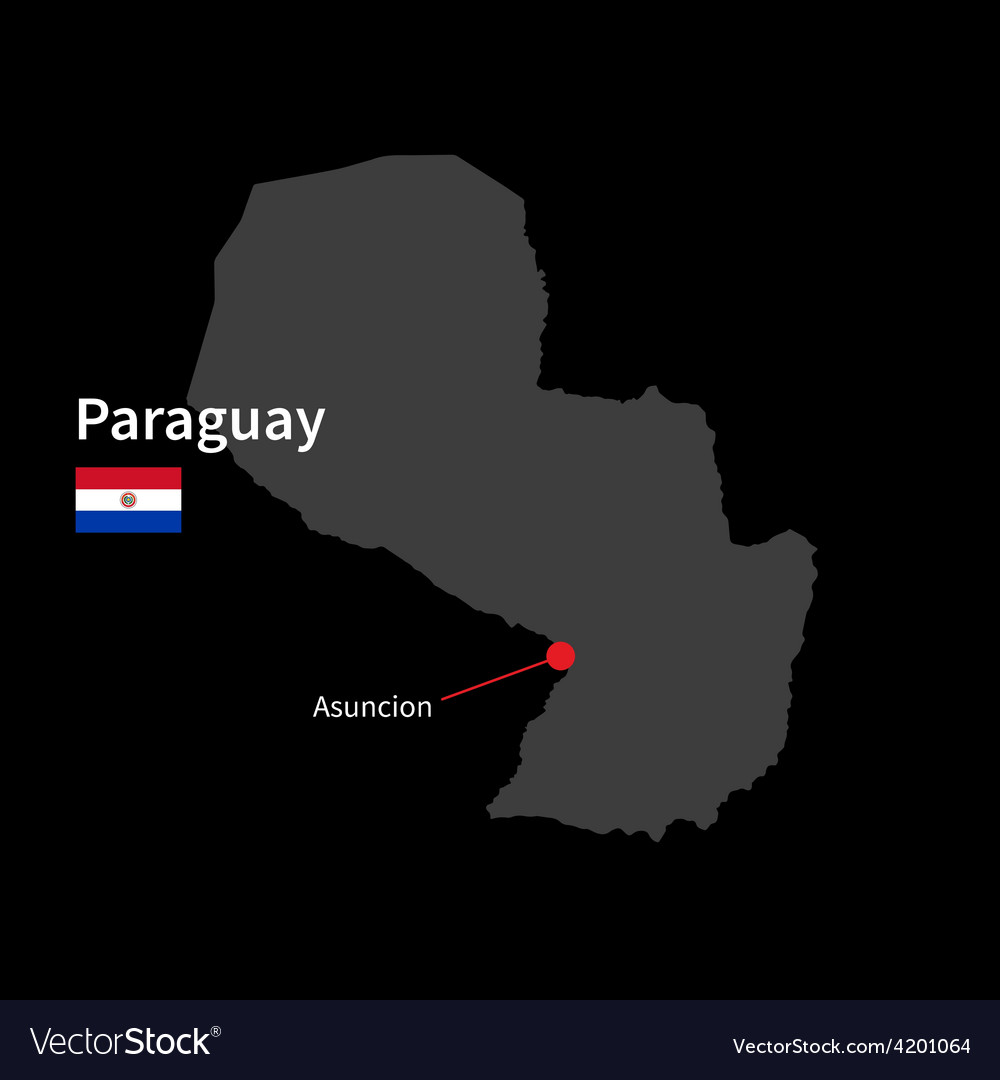 Detailed map of Paraguay and capital city Asuncion
