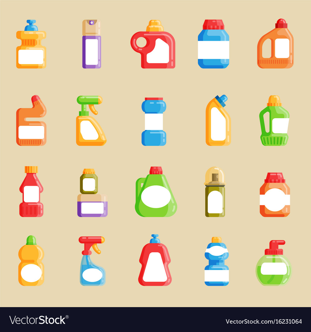 house cleaning tools home domestic cleaner vector image