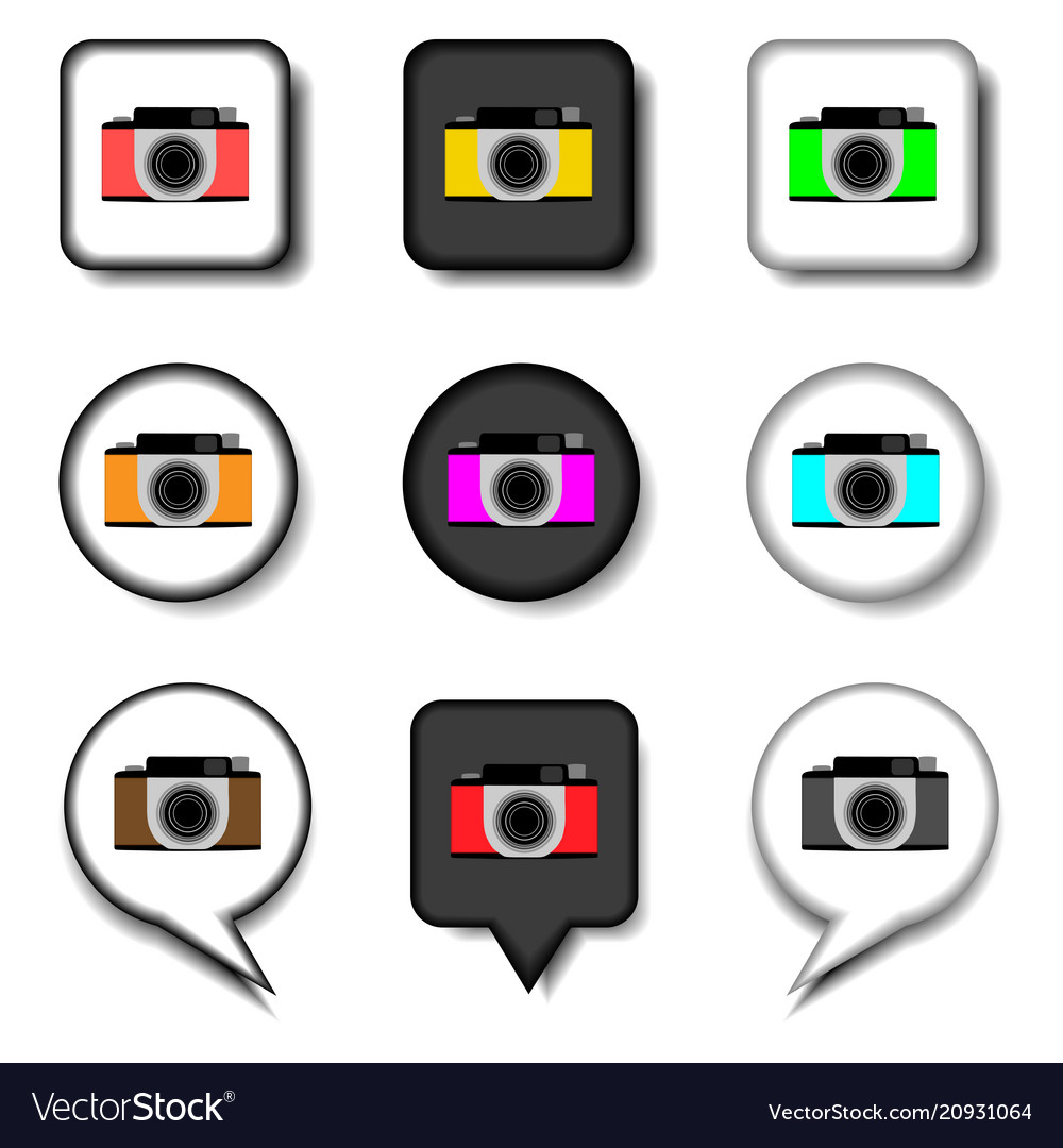 Icon logo for set symbols camera