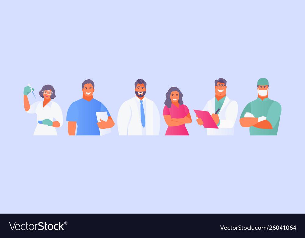Medical staff avatars