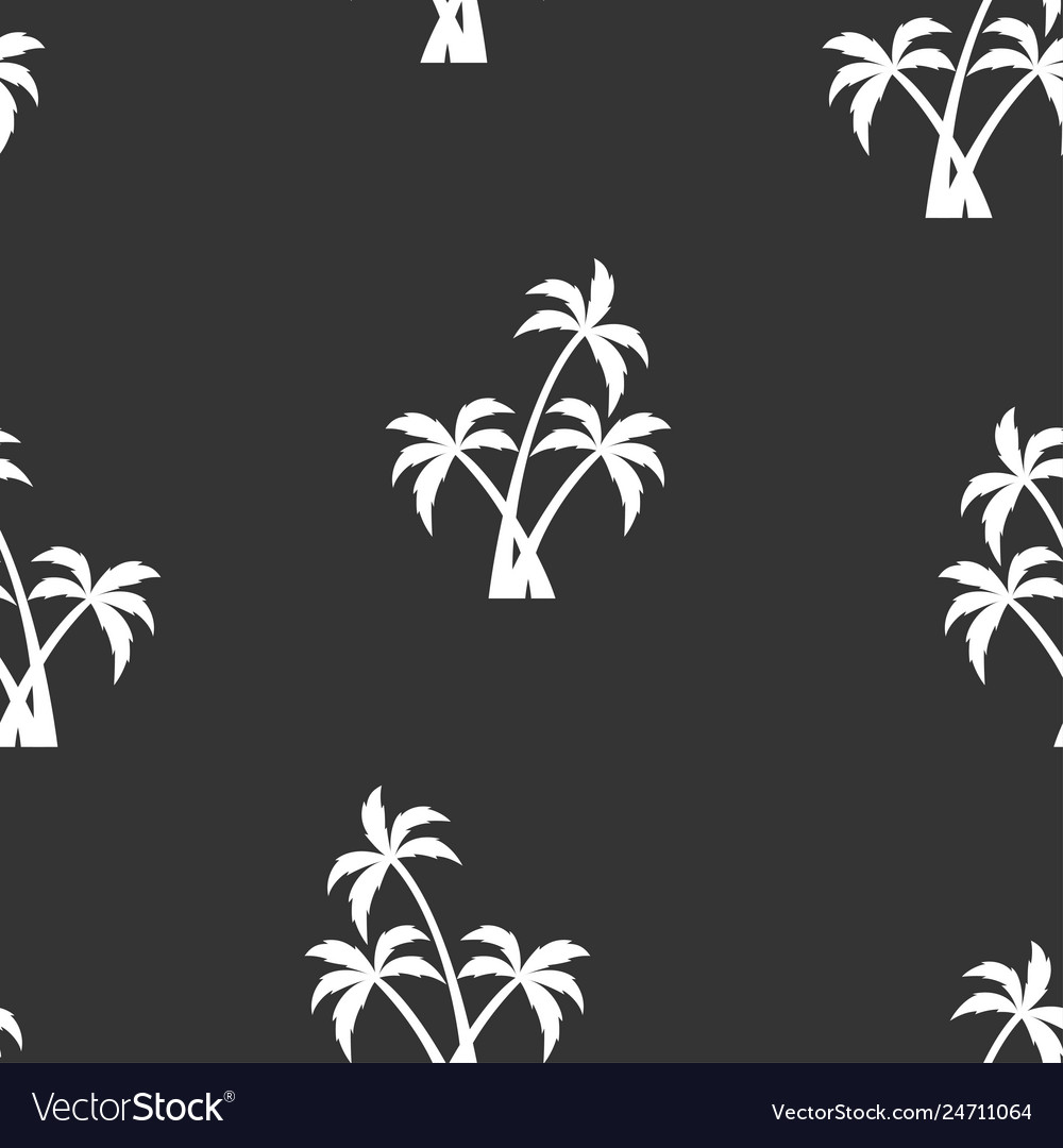 Seamless pattern with white palm trees