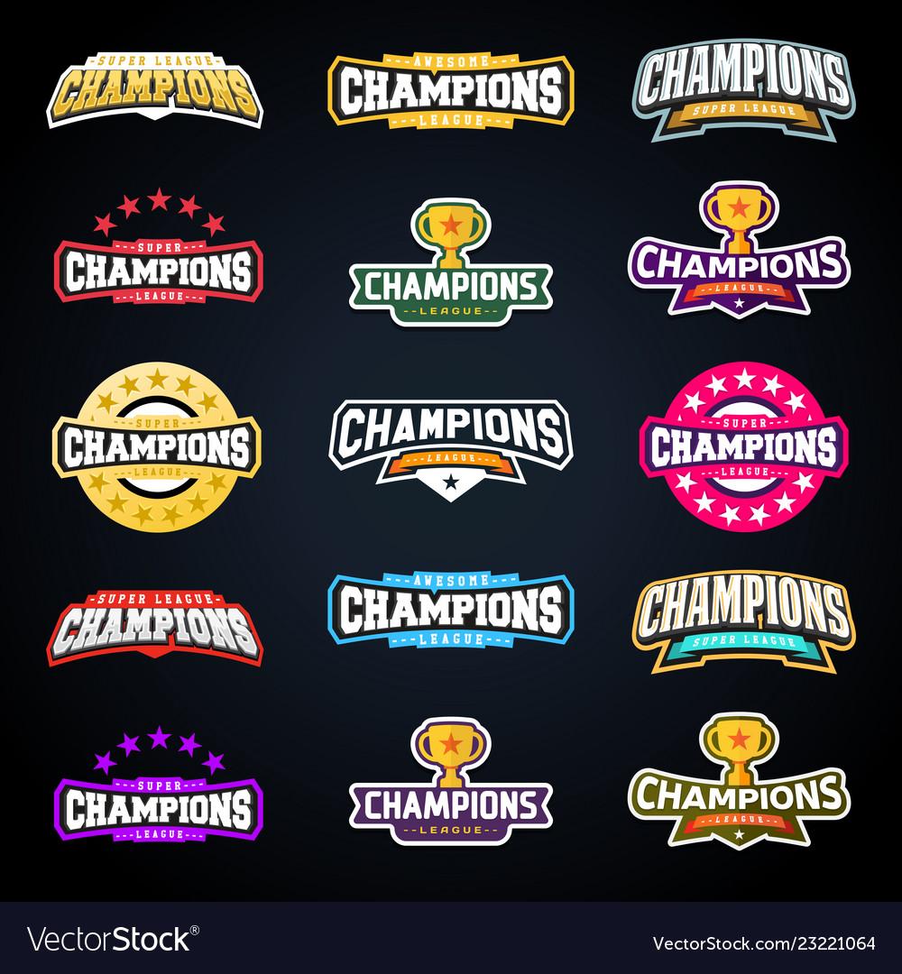 Sport champion or champions league emblem