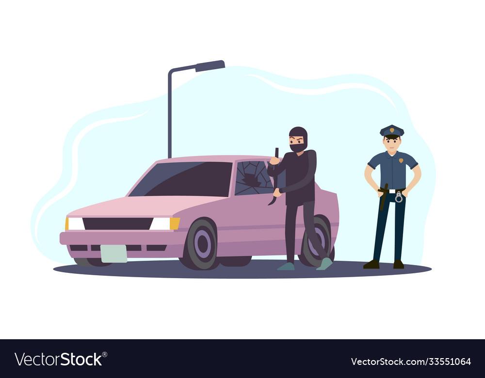 Theft car thieves man take apart