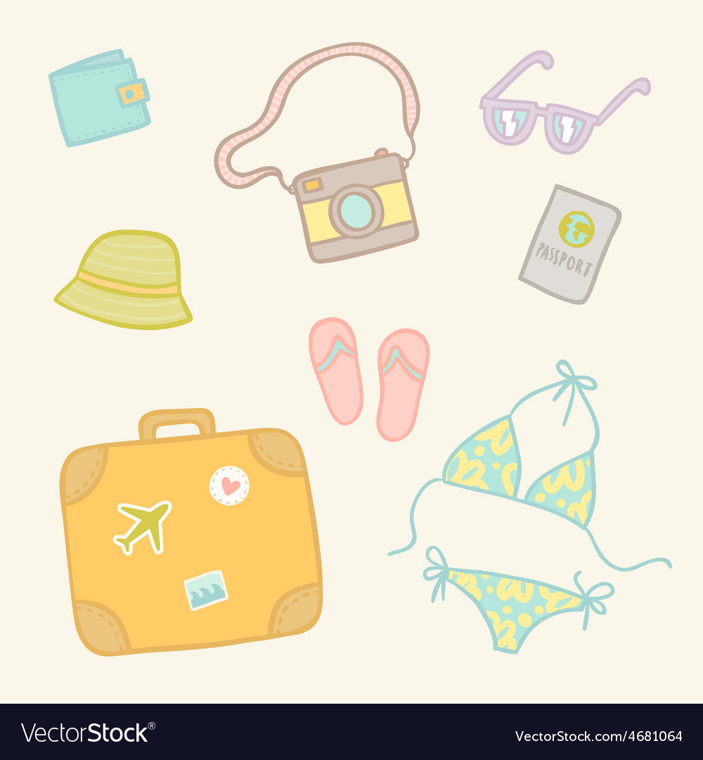 Travel objects set