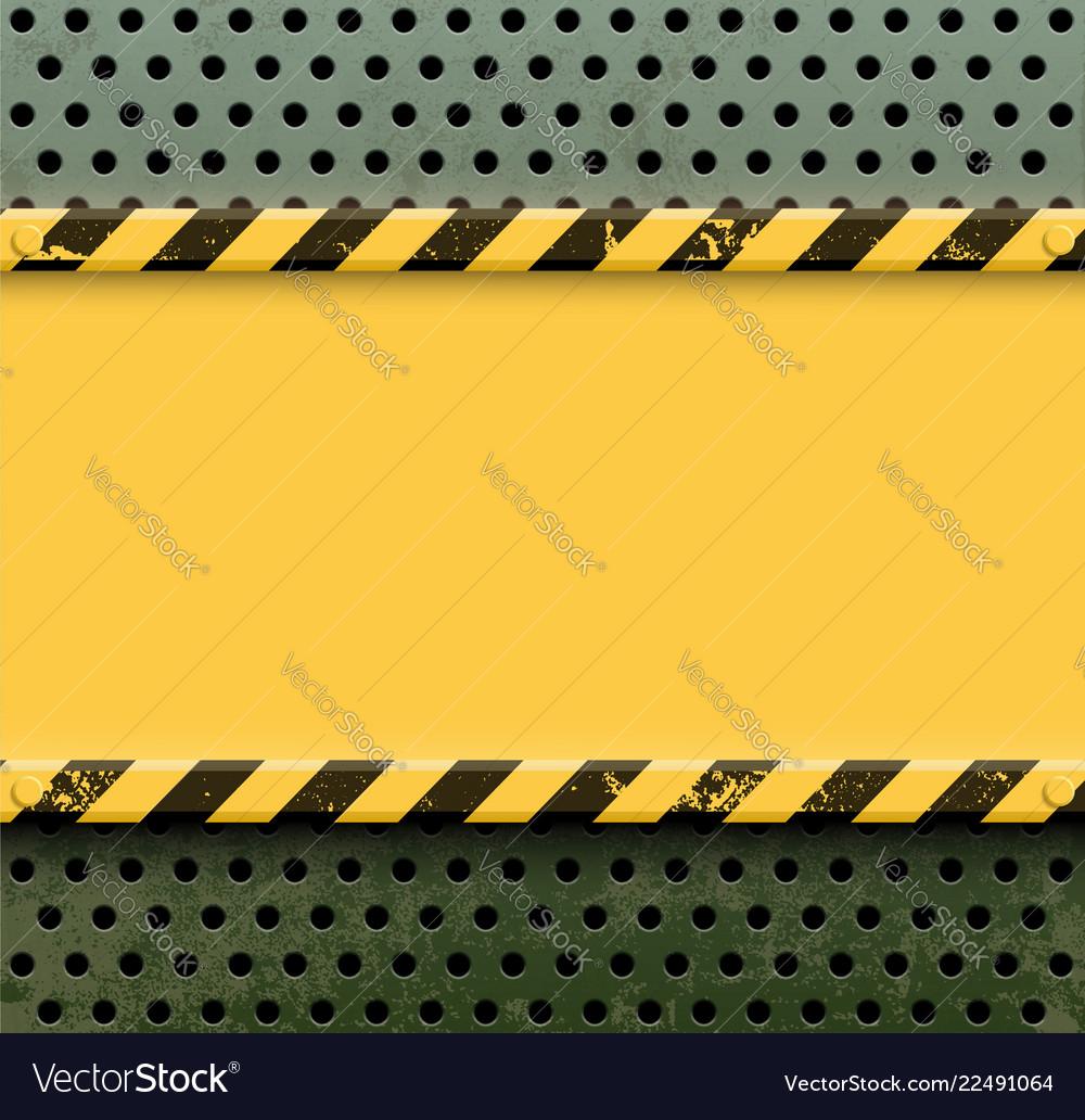 Yellow metal plate