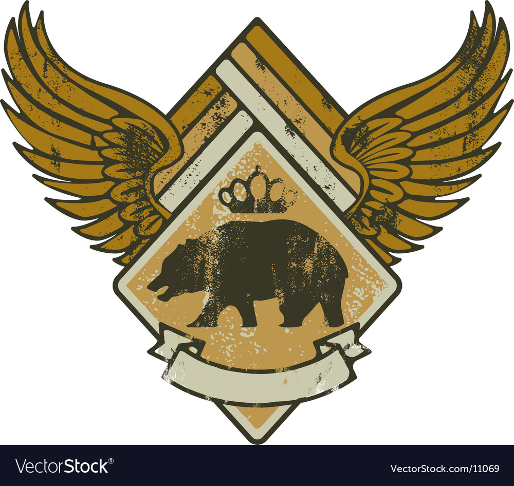 Bear kink army vector image