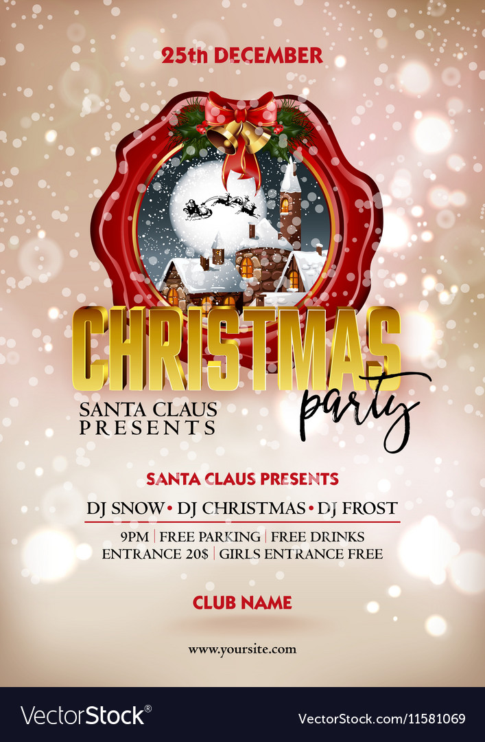 Christmas Party Poster.Christmas Party Poster Design Greeting Messages