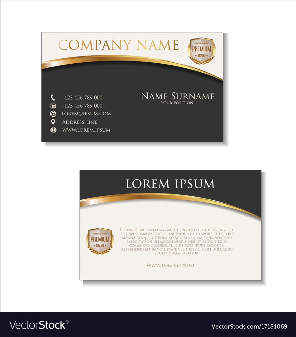 Elegant business card design template 01 vector image colourmoves