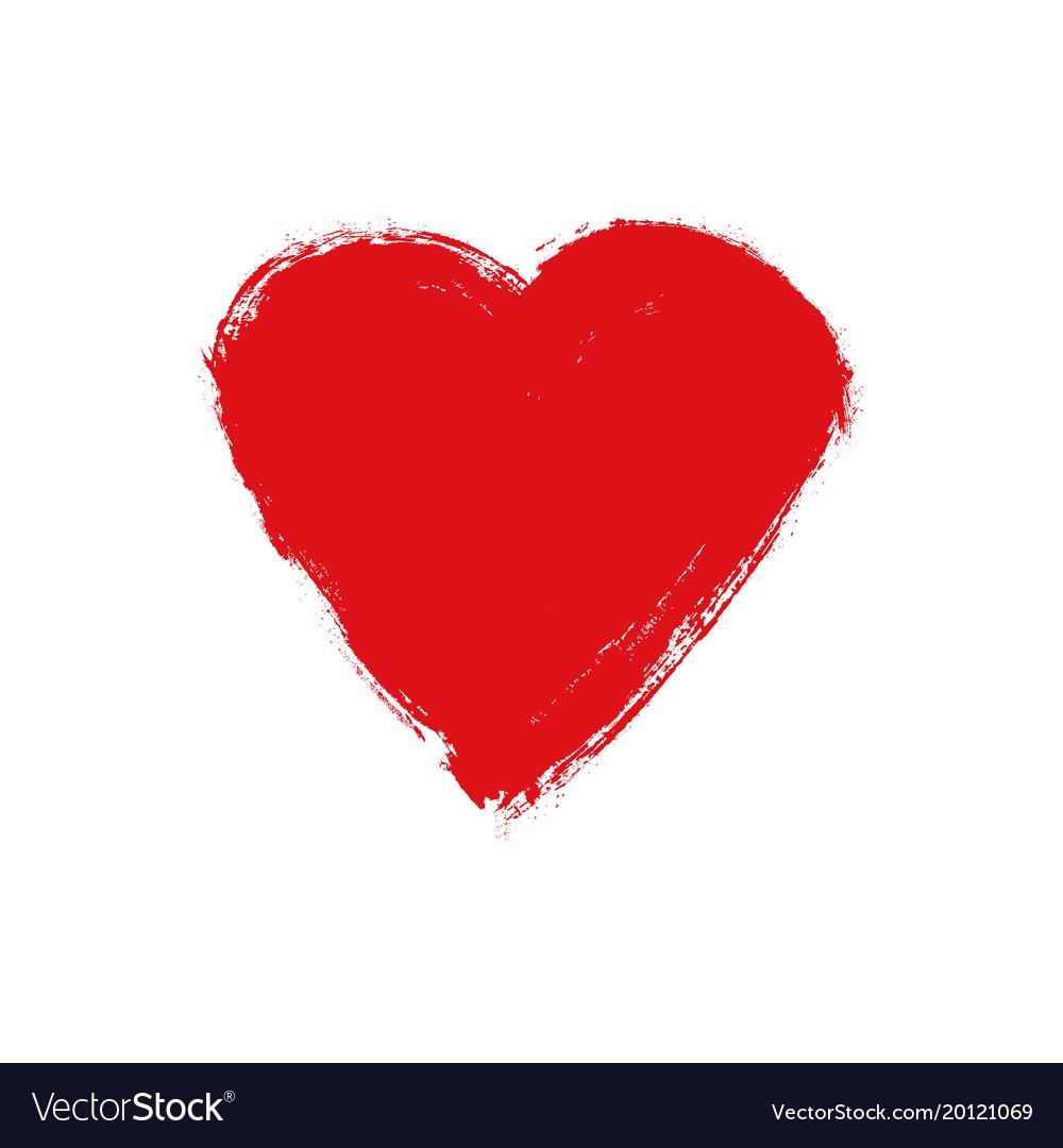Grunge heart love shape heart drawn