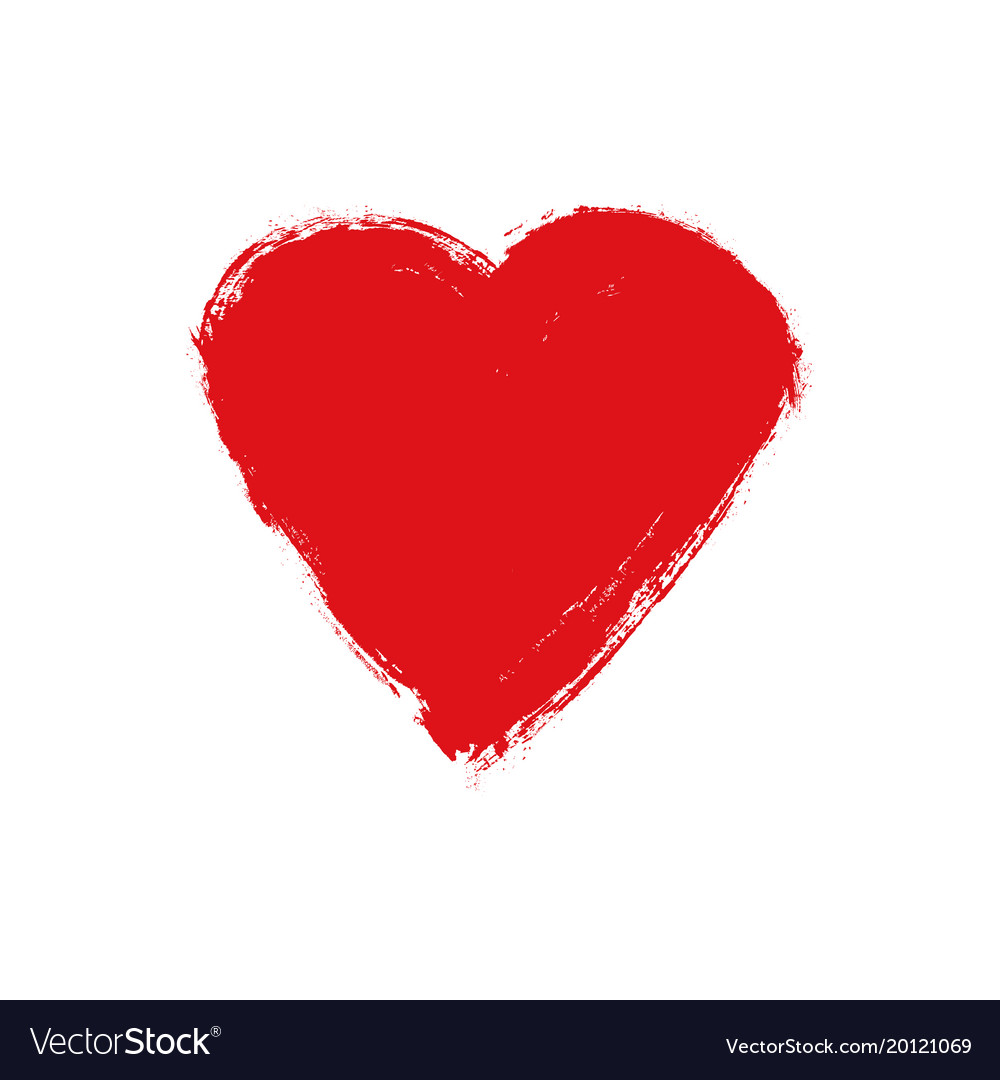 Grunge heart love shape heart drawn Royalty Free Vector for Vector Heart Shape Illustrator  174mzq