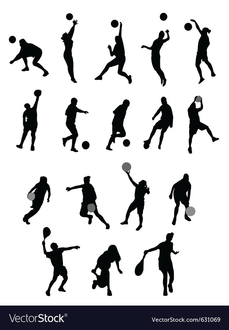 Silhouette sport vector image