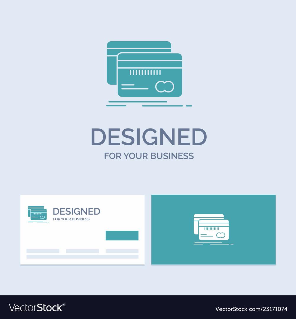 Banking Card Credit Debit Finance Business Logo Vector Image