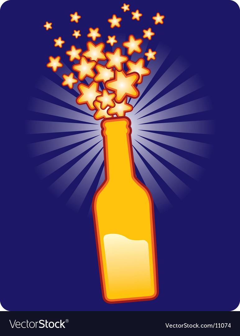 Bottle star vector image