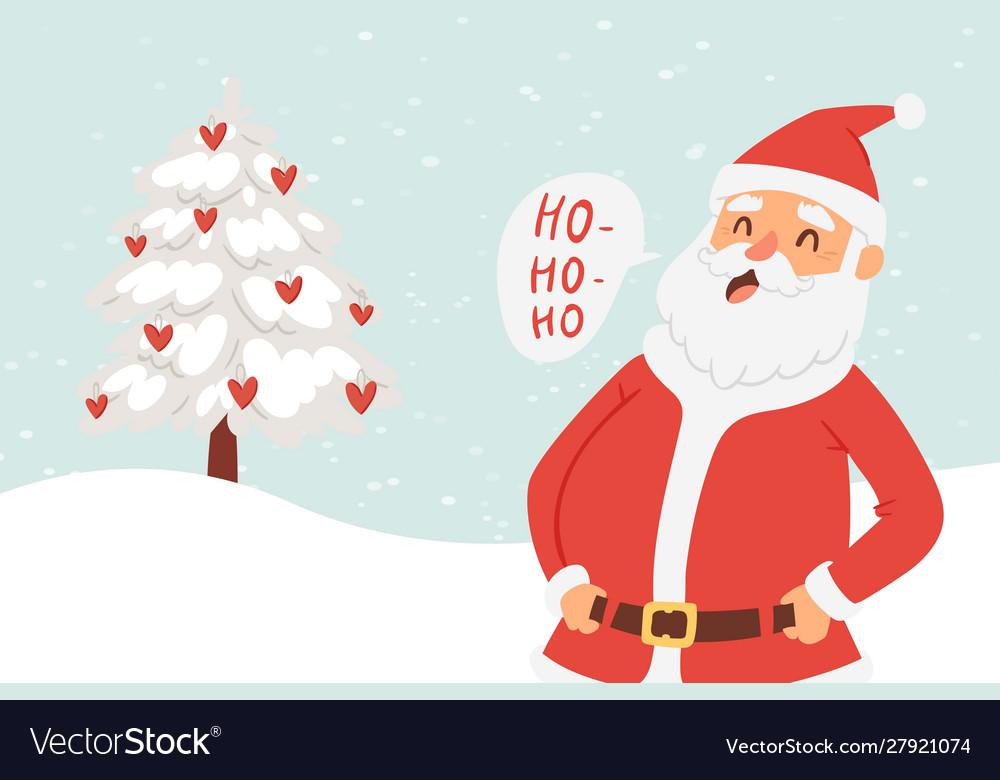 Cartoon santa claus for christmas and new year