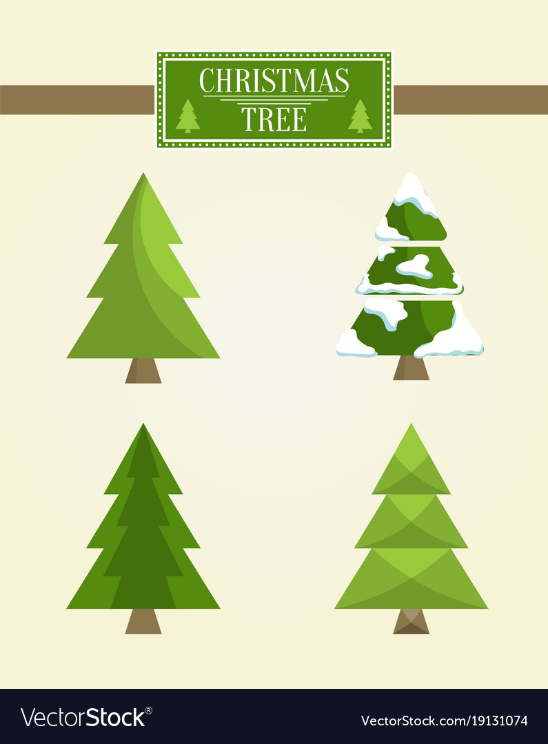 Christmas Tree Types.Christmas Tree Types Set