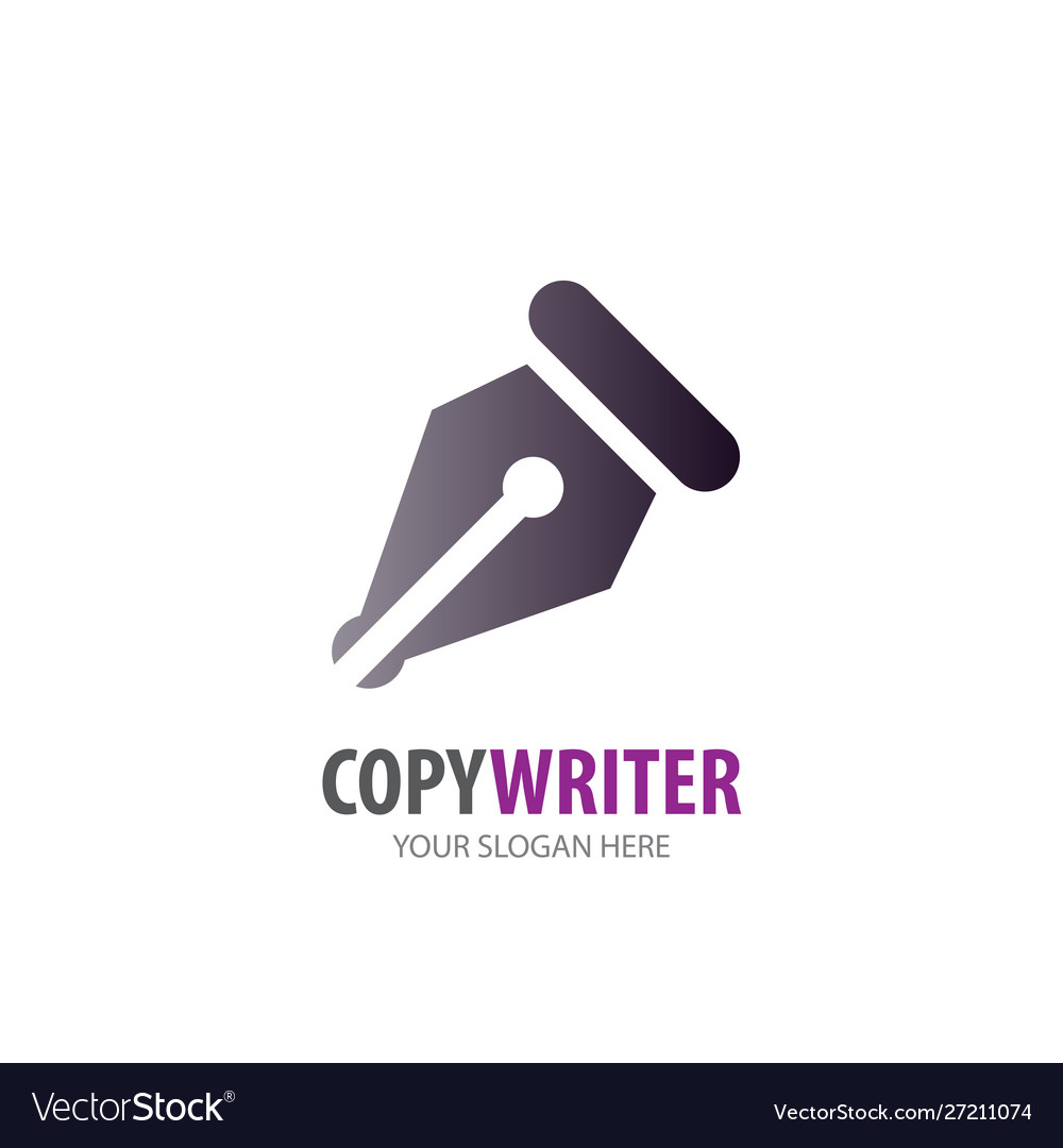 Copywriter logo for business company simple