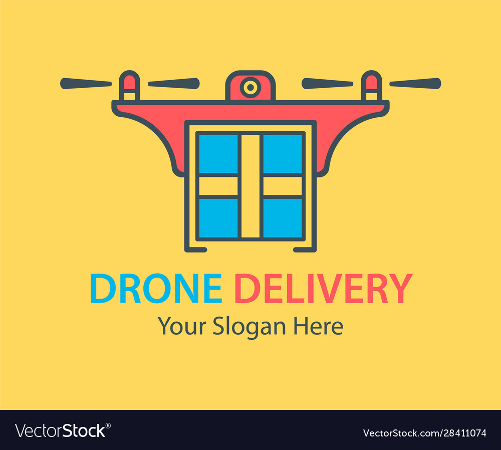 Fast delivery drone logo