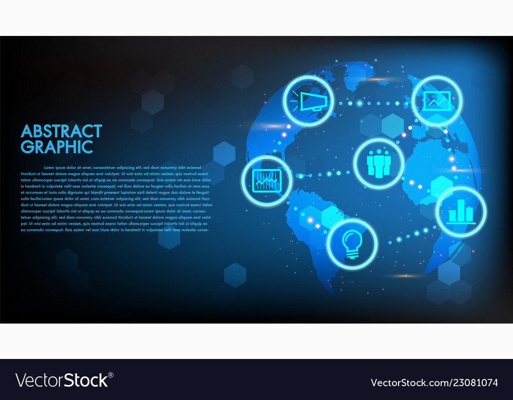 Global abstract digital business and technology